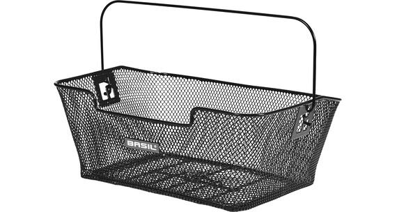 Basil Capri Gepäckträger-Korb engmaschig schwarz